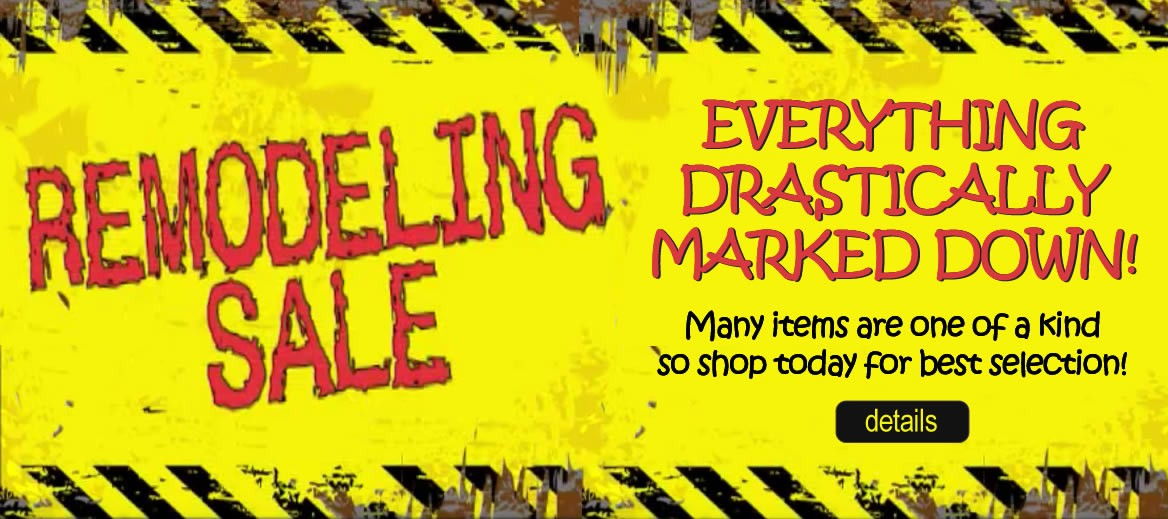 Drastic mark downs on furniture and mattresses during the remodeling sale.