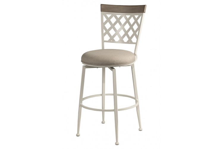 Greenfield Commercial Wood & Metal Swivel Counter Stool